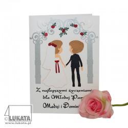 Kartka na ślub z życzeniami...