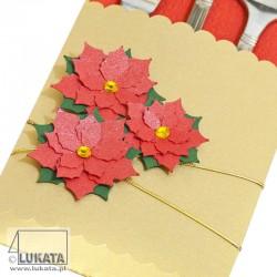 Etui na sztućce Boże Narodzenie z kwiatem Gwiazdy betlejemskiej 02
