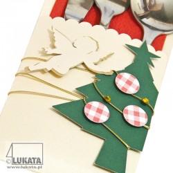 Etui na sztućce Boże Narodzenie z aniołkiem i choinką 02