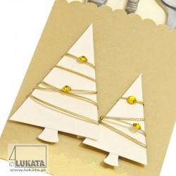 Etui na sztućce Boże Narodzenie z drzewkami świątecznymi 02