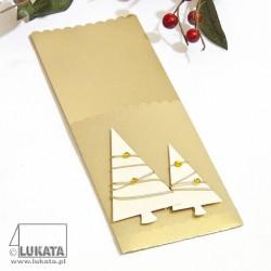 Etui na sztućce Boże Narodzenie z drzewkami świątecznymi 04