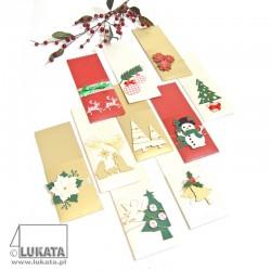 Etui na sztućce Boże Narodzenie z drzewkami świątecznymi 05