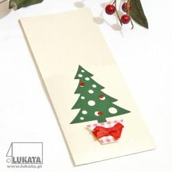 Etui na sztućce Boże Narodzenie z choinką 04