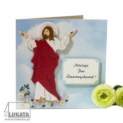 Kartka na wielkanoc Jezus Zmartwychwstały