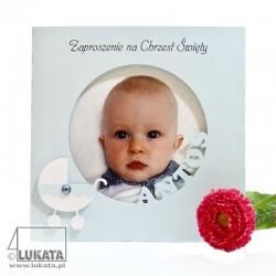 Zaproszenie na chrzest lub roczek okrągłe