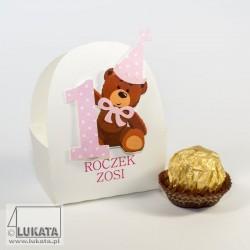 Pudełeczko na słodycze z okazji pierwszych urodzin