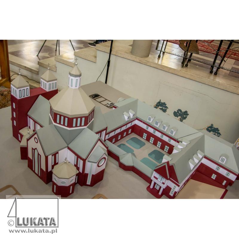 Makieta kościoła i klasztoru Katowice Stare Panewniki